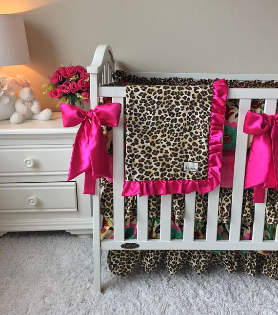 Fancy Damask Bedding Sets for Baby Girl Hot Pink Crib Set