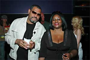 Sophia Stewart, 'Mother of the Matrix' and Lawrence Fishbourne.