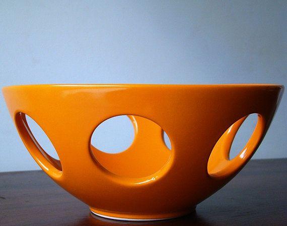 Orange Retro Fruit Bowl By RetroBoulotDodo On Etsy, U20ac25.00 | Era Of  Recycling Team @ Etsy | Pinterest | Bowls, Retro And Vintage Kitchen