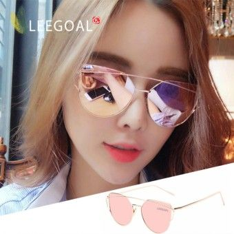 Special Reviews Leegoal wanita kacamata hitam Sunscreen Anti - UV warna  Film kacamata busana 002ac221e4
