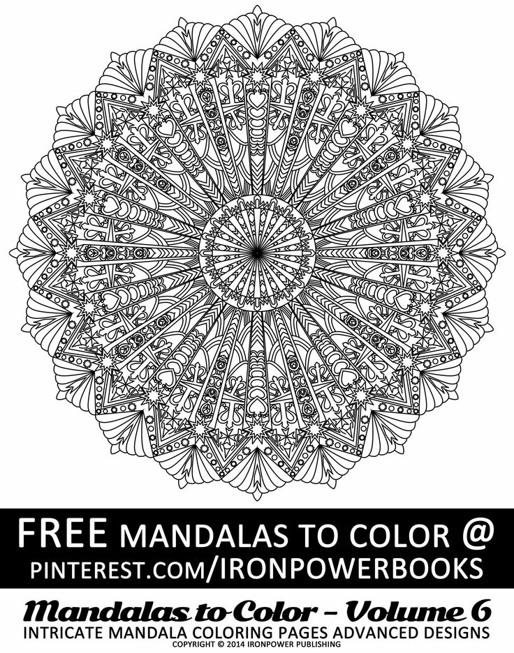 FREE Art Therapy Intricate Design Coloring Pages For Adults From Of Mandalas To Color