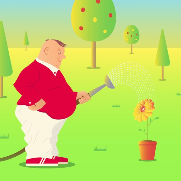 Ridiculous gardener  by Kruglikov Art Centre on @creativemarket