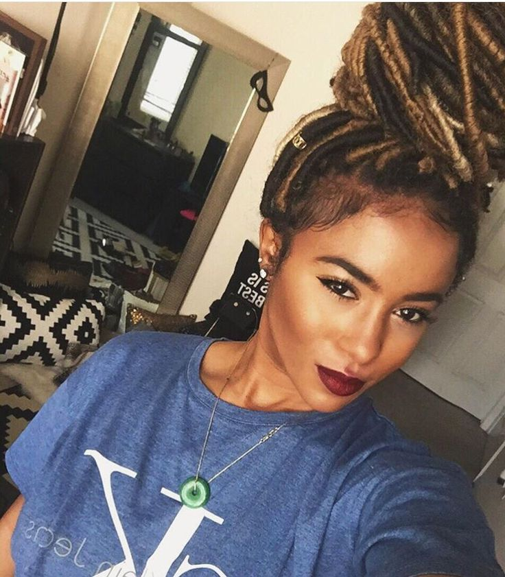 Two Tone Faux Locs Hair Styles Faux Locs Hairstyles