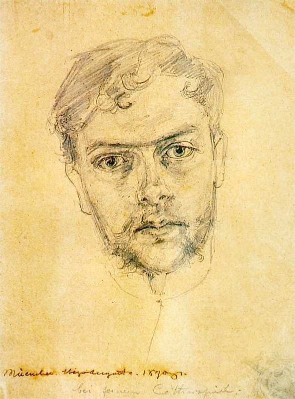 Stanisław Wyspiański (Polish, 1869-1907), Self-portrait, 1890s. Pencil on paper, 21.5 x 16.5cm.