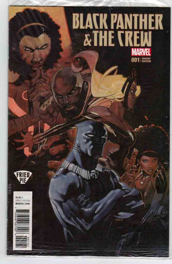 Black Panther & The Crew #1 (2017) Chris Stevens Fried Pie Cover & Jackson (Butch) Guice Pencils, Ta-Nehisi Coates Story, Blue / Storm (Ororo Munroe) (First appearance as Blue)