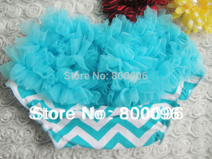 Baby bloomers blue and white chevron print casual children clothing cute baby diaper cover KP-CR020