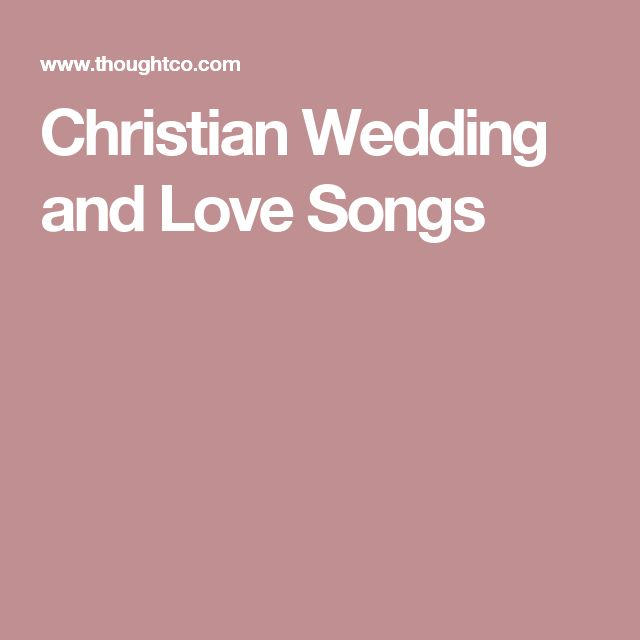 Love Songs For Weddings: 25+ Best Ideas About Christian Wedding Songs On Pinterest