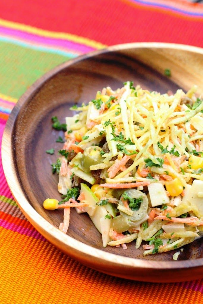 Salpicao de Frango: salade de poulet brésilienne facile. Brazilian chicken salad