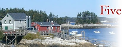 Five Islands, Maine. Favorite dock in the world to eat a Lobstah.