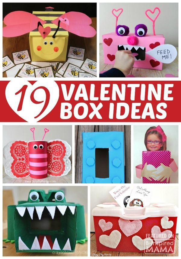 19 Clever and Creative Valentine Box Ideas for Kids - Perfect for Valentine's Day at Preschool or School! | Valentine box | Valentines Day | Valentine containers | Valentine boxes | Valentine crafts | kids crafts | kids craft