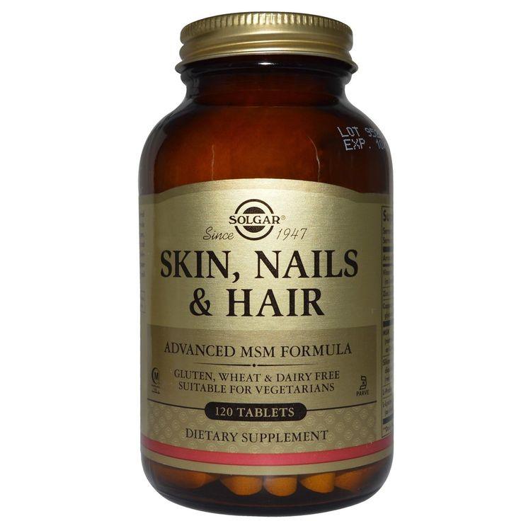 Συμπλήρωμα διατροφής για τα μαλλιά: Skin Nails & Hair της Solgar  Υπέροχο Δέρμα, Γερά Νύχια, Λαμπερά Μαλλιά  Ένα συμπλήρωμα διατροφής για τα μαλλιά, τα νύχια και το δέρμα  Το συμπλήρωμα διατροφής Skin, Nails & Hair της Solg...