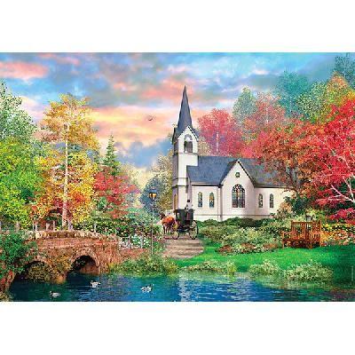 Clementoni Puzzle Herbst und Kirche
