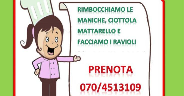 Domani 31 marzo alle 17.00 alla libreria Sogni Di Carta in Via Eleonora D'arborea 25 a Quartu Sant'elena si terrà un laboratorio di cucina dove si realizzeremo i ravioli.