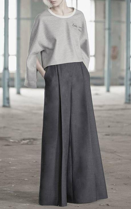 Ultra wide leg trousers; modern tailoring; contemporary fashion // Vika Gazinskaya F/W 2015