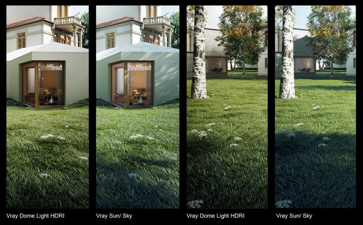 VRAY DOME LIGHT VS VRAY SUN