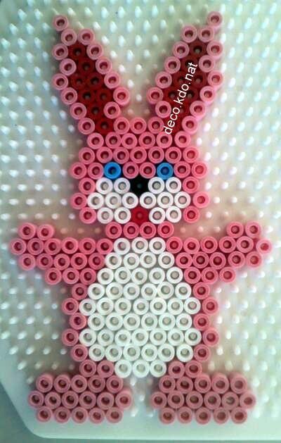 Easter bunny hama perler beads by deco.kdo.nat