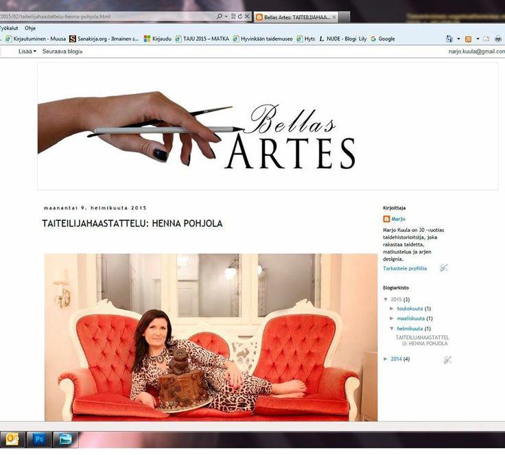 Blogini Bellas Artes löytyy osoitteesta http:/taidebella.blogspot.fi