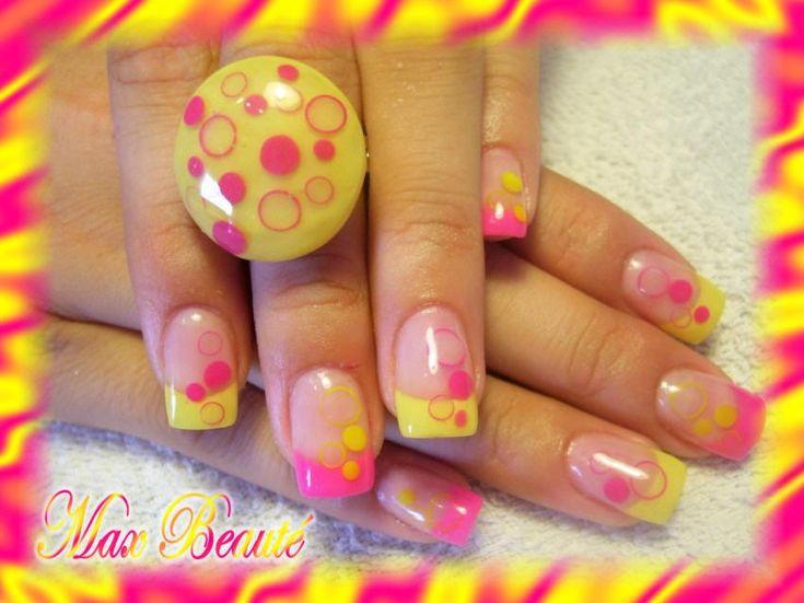 Nail Art Designs Yellow And Orange