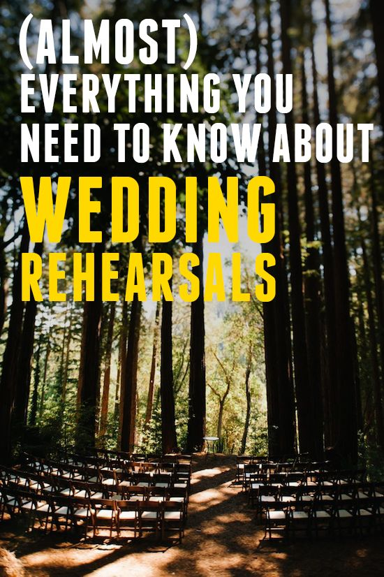 Everything You Need To Know About A Wedding Rehearsal