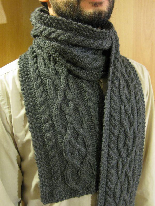 0c058280c3ef Nous avons publié aujourd hui un modèle tricot echarpe laine homme pour  vous suggérer des idées quand vous aurez vos aiguilles et votre pelot…