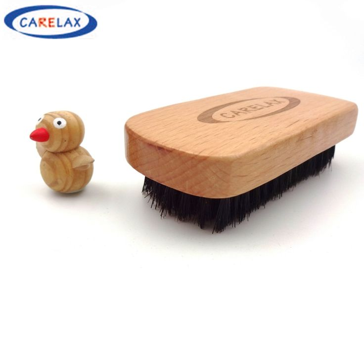 Face Shaving Brush Beard Brush For Men Bamboo With 100% Boar Bristles Massage Works Wonders to Comb Beards and Mustache Square