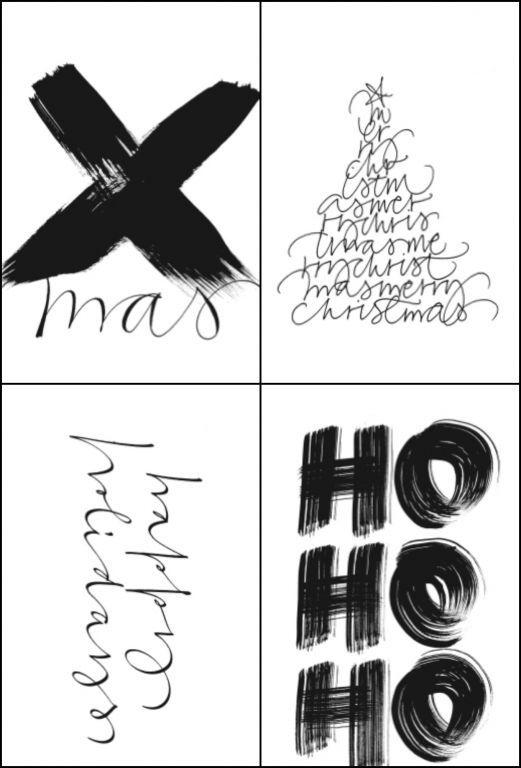 Papírové vánoční štítky Xmas   Nordic Day