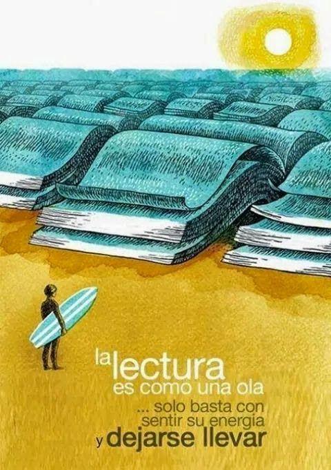 """Crea y aprende con Laura: La frase de la Semana: """"La lectura es como una ola..."""""""