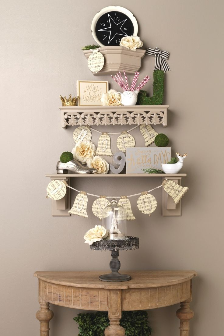 small space holiday decor for any room add shelves with cascading lengths to create the