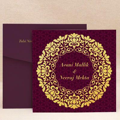 Glorious Vows Royal Purple Wedding Invitation Cards Designs Buy