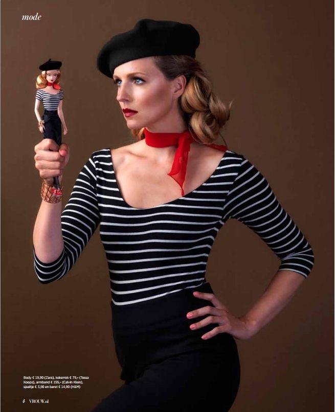 Proudly presents Leonie ter Braak nu in de nieuwe VROUW Glossy. Wearing the KATIE BLACK Skirt