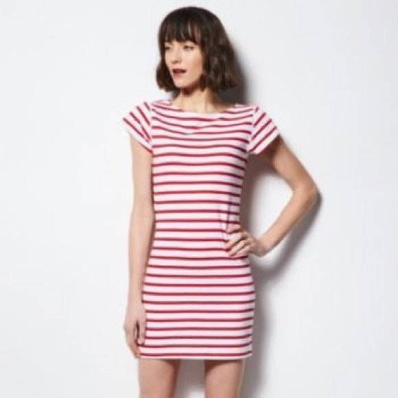 Milly for Design Nation~Striped T Shirt Dress~Red White~S  MILLY   TShirtDress a429f094ae
