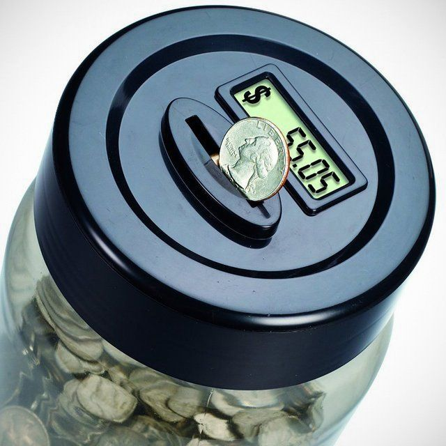 Digital coin counting money jar piggy bank christmas gift idea fun quirky gift ideas - Coin bank that counts money ...