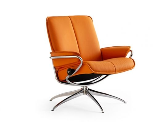 Stressless Recliner Low Back Standard Base Stressless City Ekornes available at Reflections Furniture