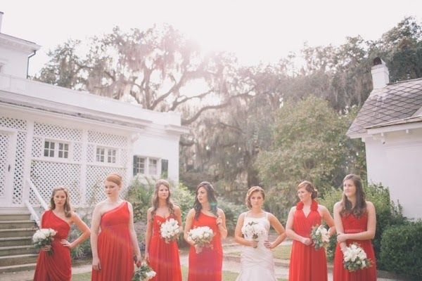 Bridemaids dresses. Bridesmaid photo. Elegant Southern Affair by Black and Hue Photography