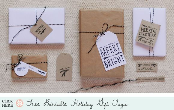 Holiday Roundup: Awesome Free Gift TagPrintables - Home - Creature Comforts - daily inspiration, style, diy projects + freebies