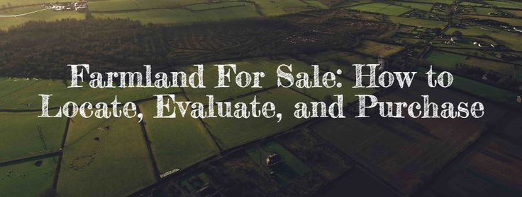 Farmland For Sale: How to Locate, Evaluate, and Purchase