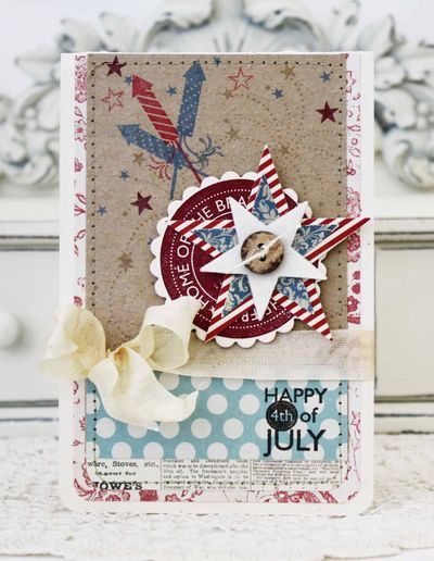 Happy 4th Of July Card by Melissa Phillips for Papertrey Ink (May 2013)
