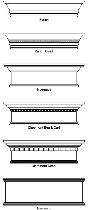 """Hunter Douglas Country Woods Exposé Cornices are available in 6 profile styles in heights of 6"""", 9"""" and 12"""". For the 12"""" profile styles, the..."""