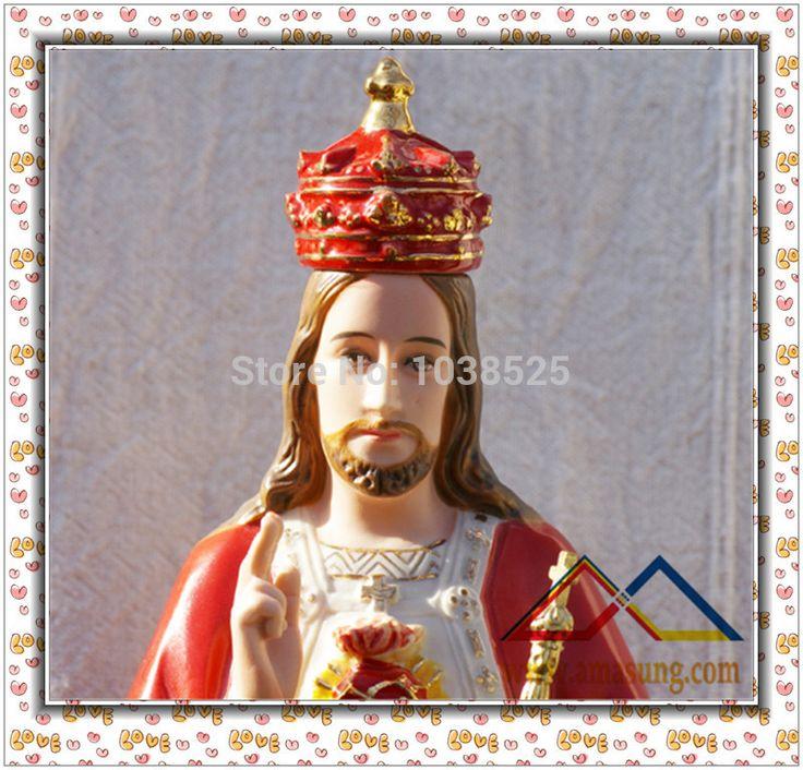 """Купить товар14 """" король королей иисус католическая керамические фарфор статуя скульптура во вьетнаме в категории Ремесла из смолана AliExpress.                                             Этот царь царей Иисус является одним из"""