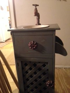 Bought this at Winnie Trade Days for our master bathroom..decor