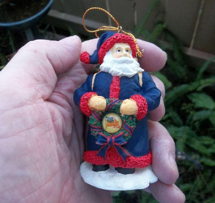 USA Santa Ornament United We Stand Memory Company #MemoryCompany