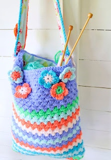 Crochet Knit Mesh Hand Shoulder Market Tote Bags & Purse