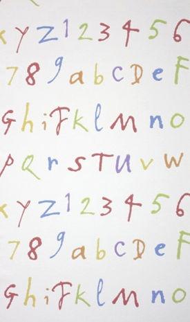 carta da parati a motivi per bambini (mista) QUENTIN'S ABC OSBORNE & LITTLE