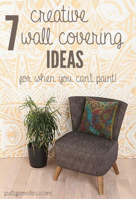 7 Great Wall Coverings For When You Can T Paint Tapestries Temporary Wallpaper Diy Removable Fabric Etc Lots Of Good Ideas