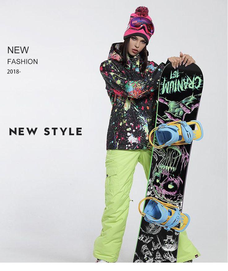 Cheap Gsou Snow High Windproof Waterproof Colorful Women's Ski/Snowboard Jacket On Sale