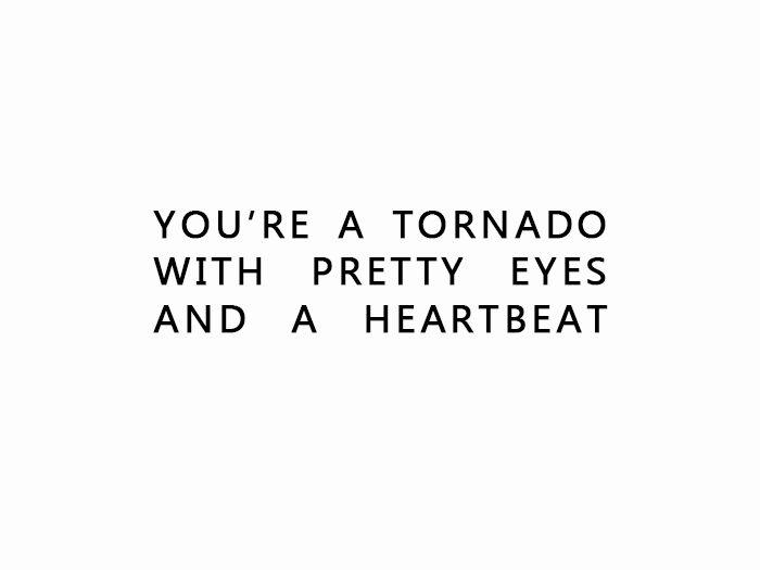 Or a hurricane, y'know...