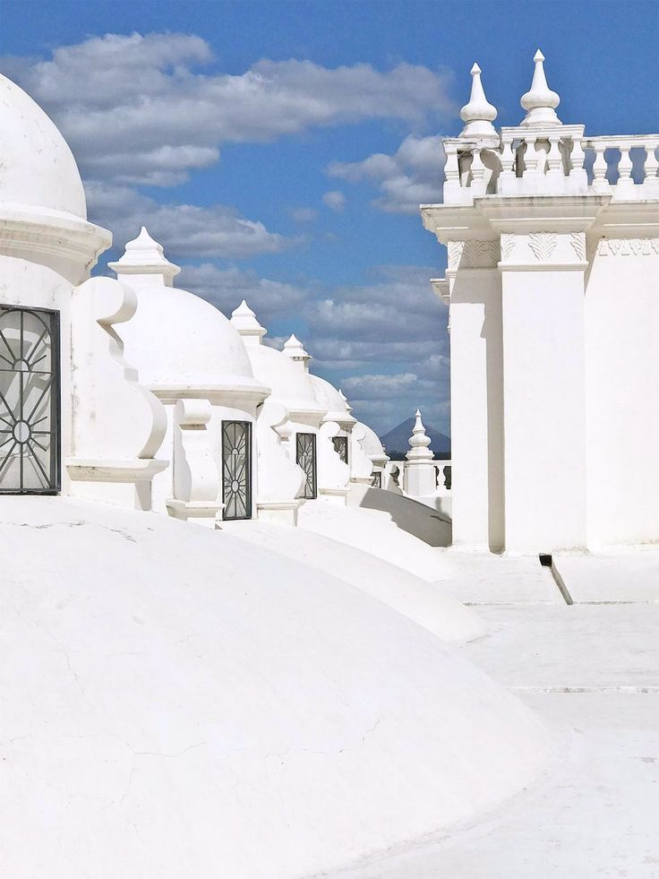 The White Washed Domes of Leon, Nicaragua