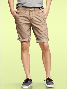 Khaki Jean Shorts