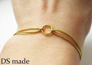 gold bracelet złota bransoletka z kółkiem