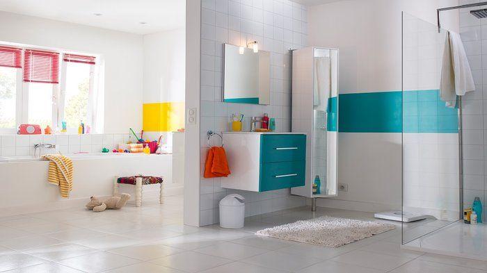 9 best Salle de bain images on Pinterest Bathroom interior, Small - salle de bain en bleu